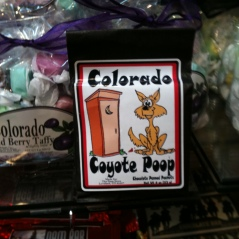 Photo of package of Colorado Coyote Poop candy