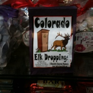 Photo of package of Colorado Elk Droppings candy