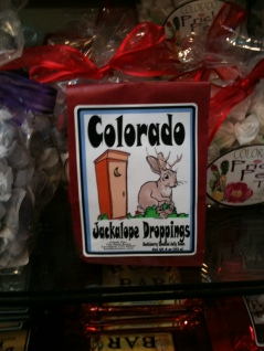Photo of package of Colorado Jackelope Droppings candy