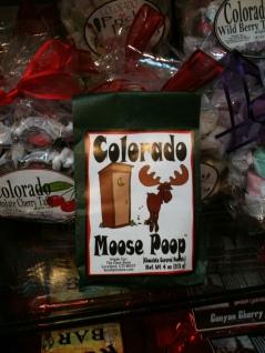 Photo of package of Colorado Moose Poop candy