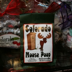Photo of package of Colorado Moose Poop candy
