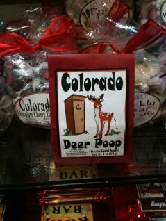 Photo of package of Colorado Deer Poop candy