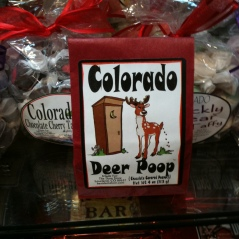 Photo of package of Colorado Deer Poop candy
