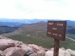 Mount Evans Road Elevation Sign