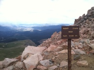 Mount Evans Road Elevation Sign 2