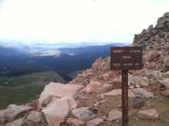 Mount Evans Road Elevation Sign 2