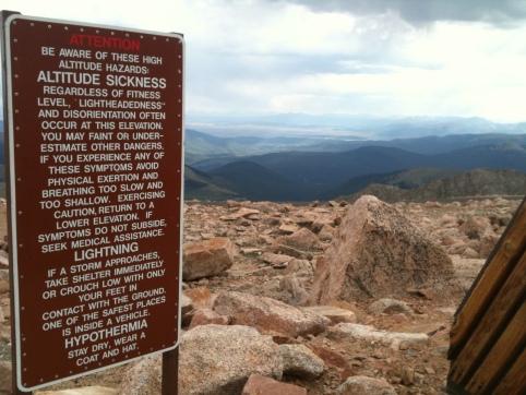 Altitude Sickness Warning