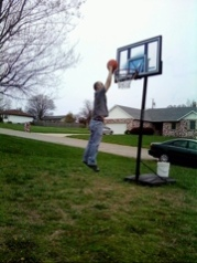 Tim Two-Handed Dunk