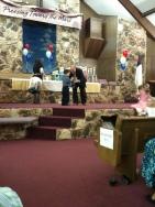 Jadon Receiving A Trophy