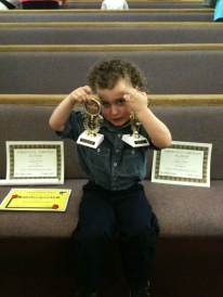 Jadon With His Awards