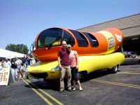 Tim & Daphne With The Wienermobile
