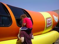Tim & Jadon Peeking In The Wienermobile