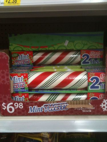 Photo of a two pound stick of peppermint