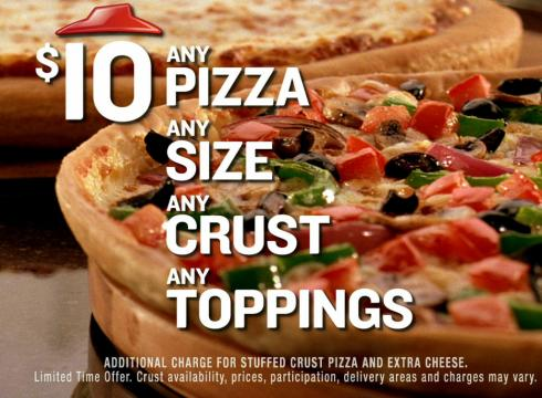 Pizza Hut Any Pizza, Any Toppings