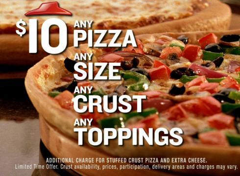 Pizza Hut Any Pizza, Any Toppings